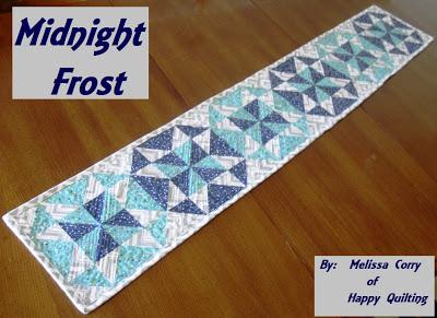 Midnight frost table runner