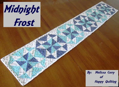 Midnight frost table runner