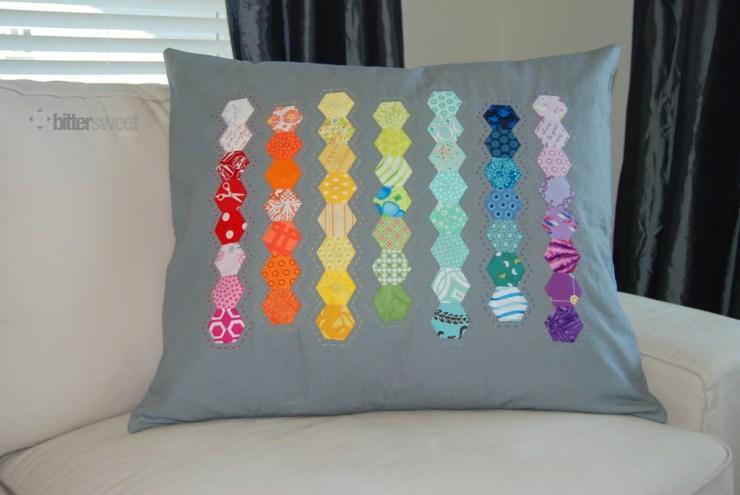 Rainbow-Hexie-Pillow
