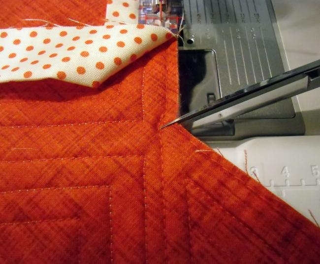 binding an inside angle