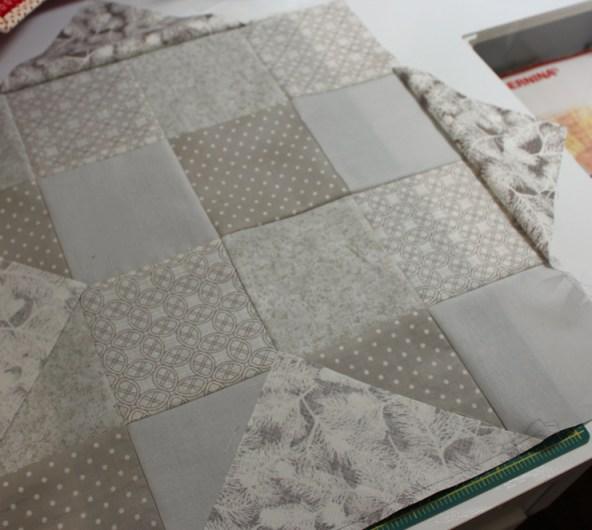 triangles sewn