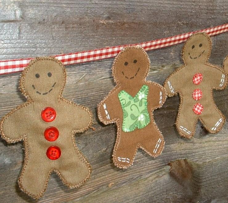gingerbread bunting tutorial