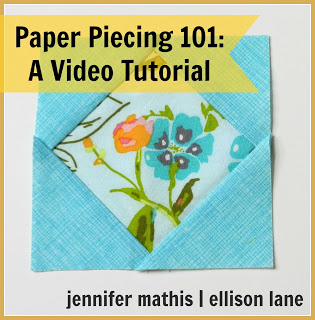paper piecing video tutorial @ Ellison Lane Quilts