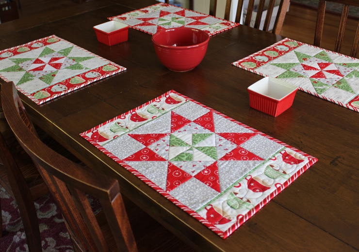 Christmas Placemats @ The Crafty Quilter