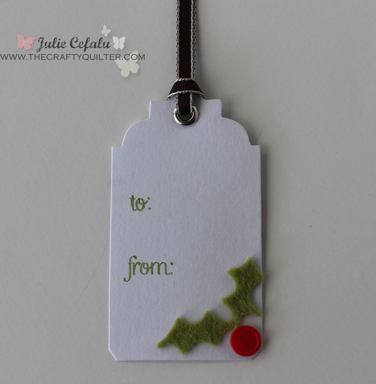 Holly Leaves Gift Tag