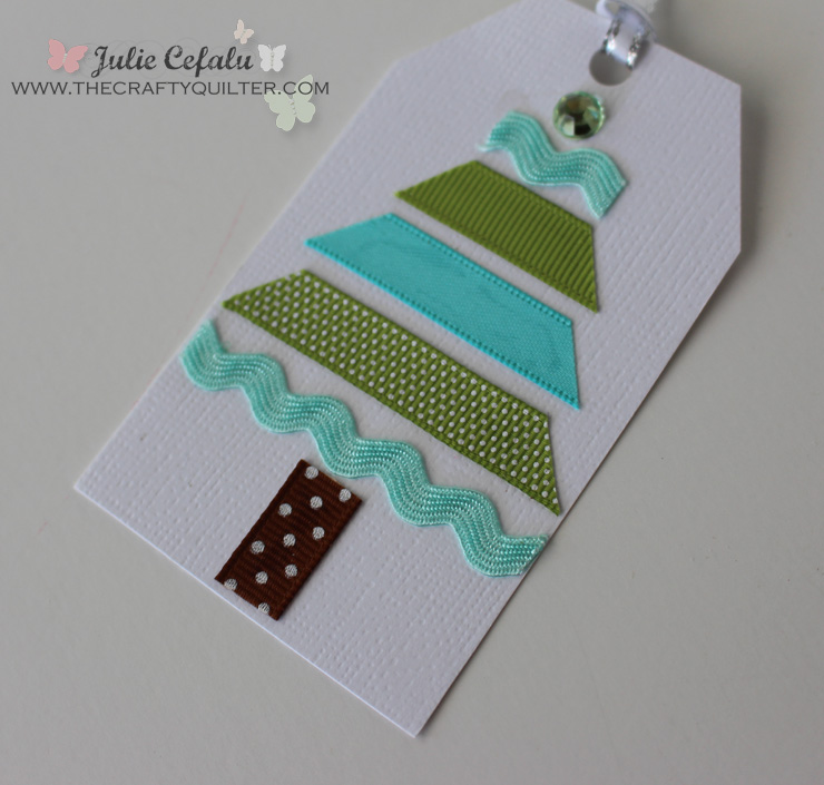 Ribbon Christmas Tree Gift Tag