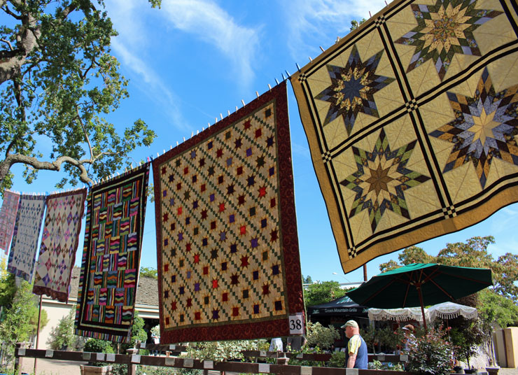 quilts in air
