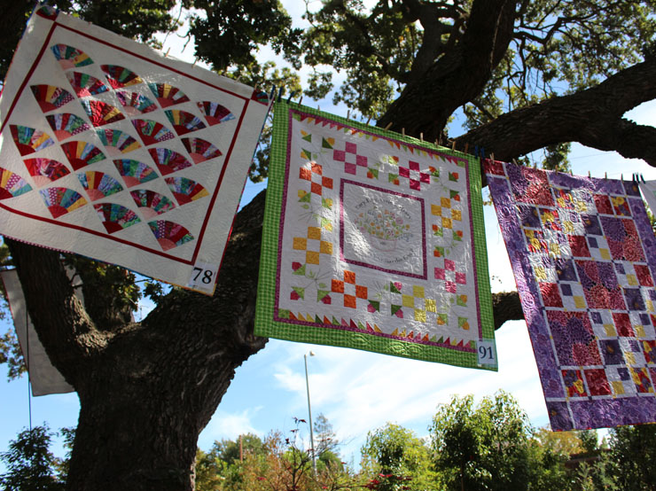 quilts in trees