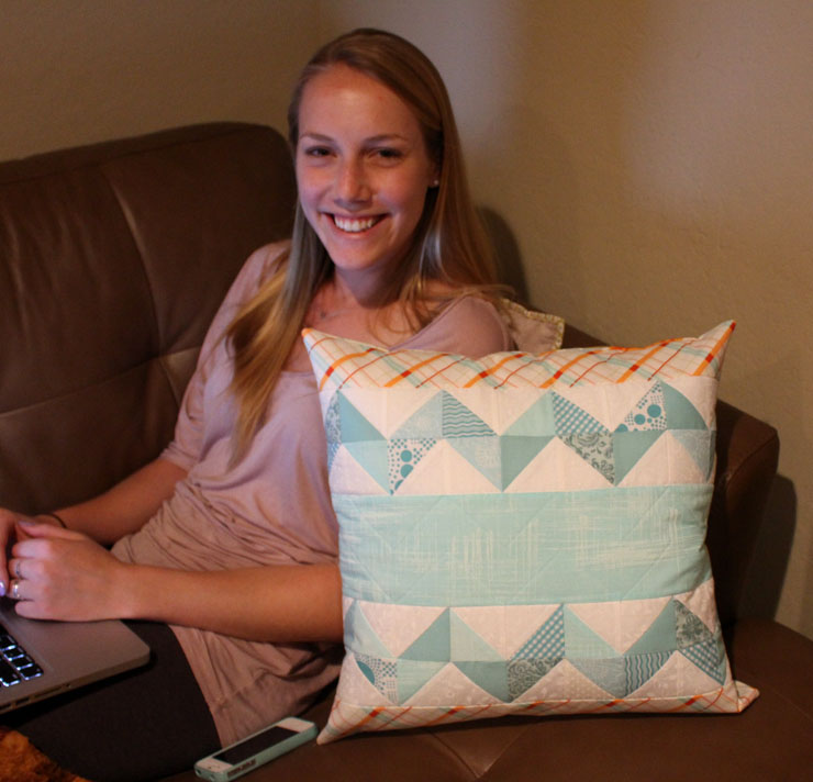 chevron pillow from The Crafty Quilter
