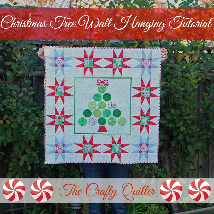 Wall Hanging Christmas Tree christmas tree wall hanging tutorial - the crafty quilter