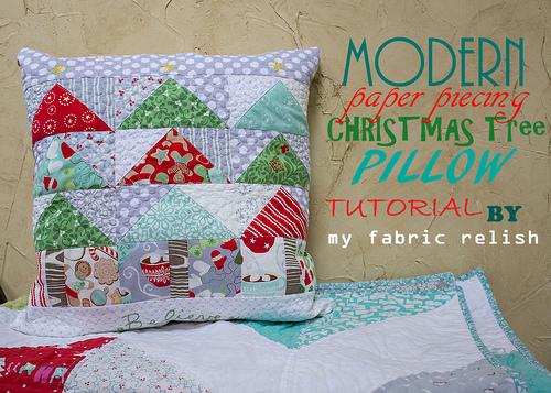 Modern Christmas Pillow