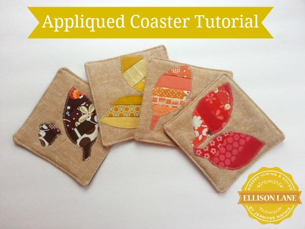 Appliqued Coaster Tutorial @ Ellison Lane