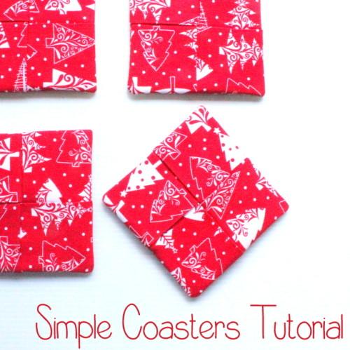 Simple Coasters Tutorial @ The Crafty Mummy