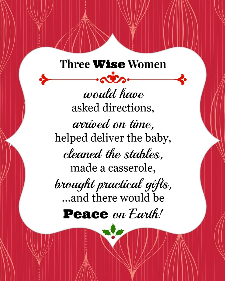Three Wise Women... Free Printable @ The Crafty Quilter