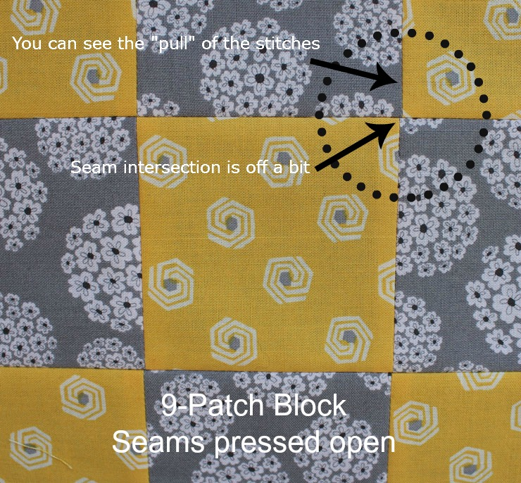 9 Patch with seams pressed open