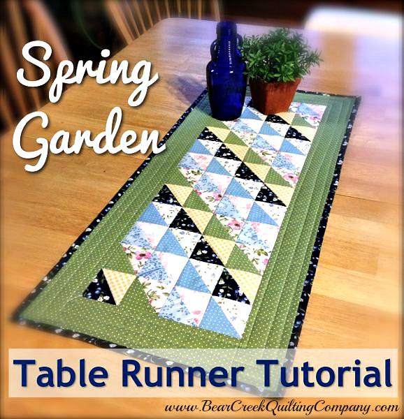 Spring Garden Table Runner