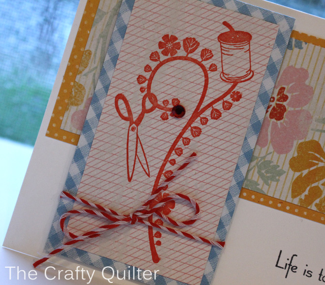 Stamp detail  @ The Crafty Quilter