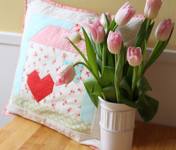 Tulips and pillow