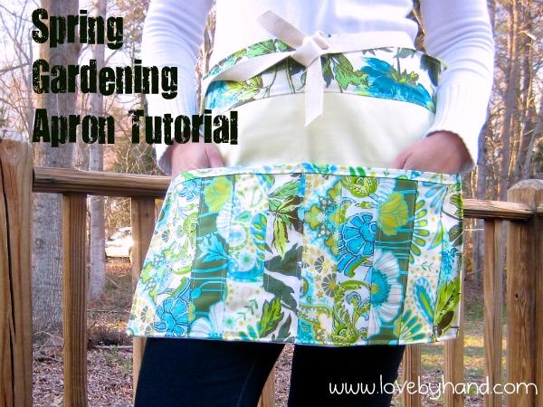 Spring Gardening Apron Tutorial