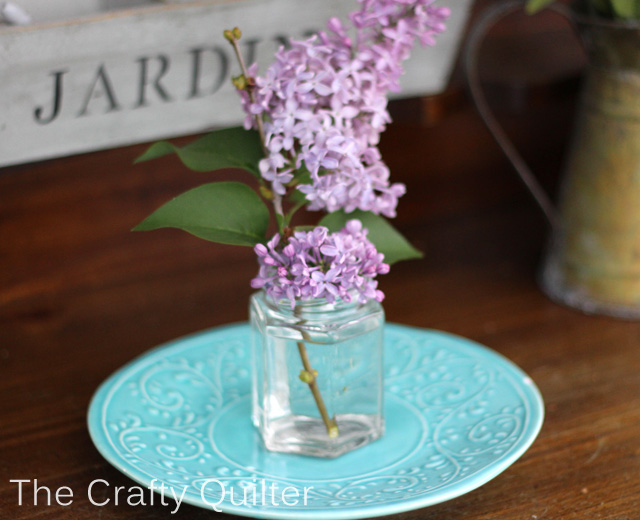 lilac on plate