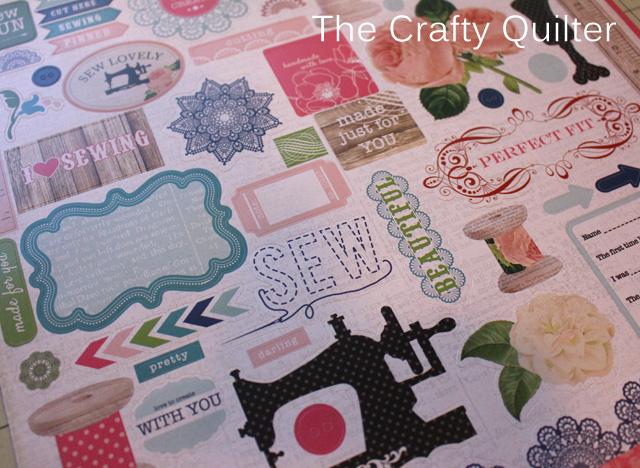 Sew Lovely cardstock designed by Carina Gardner for Carta Bella Paper