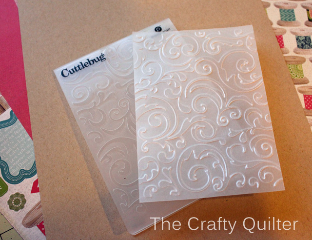 How to dry emboss cardstock and Embossed Vellum @ The Crafty Quilter