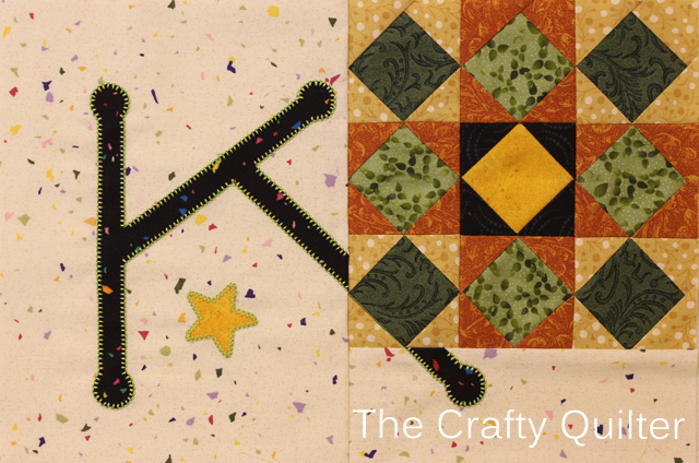 Letter K, TQS 2014 BOM @ The Crafty Quilter