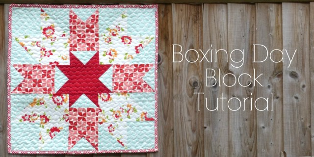 Boxing Day Tutorial