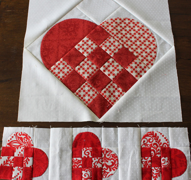 Nordic Hearts small and large @ The Crafty Quilter