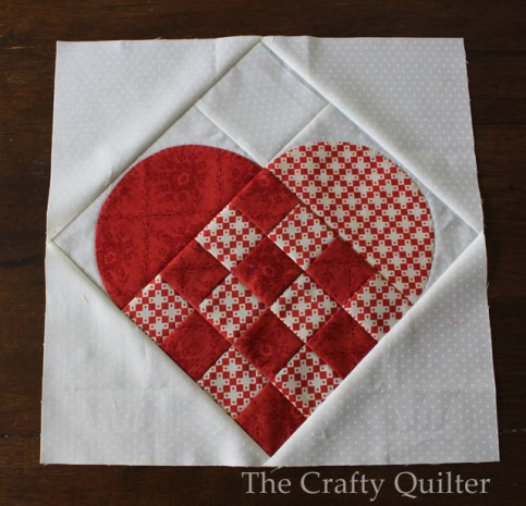 Large Nordic Heart quilt block @ The Crafty Quilter