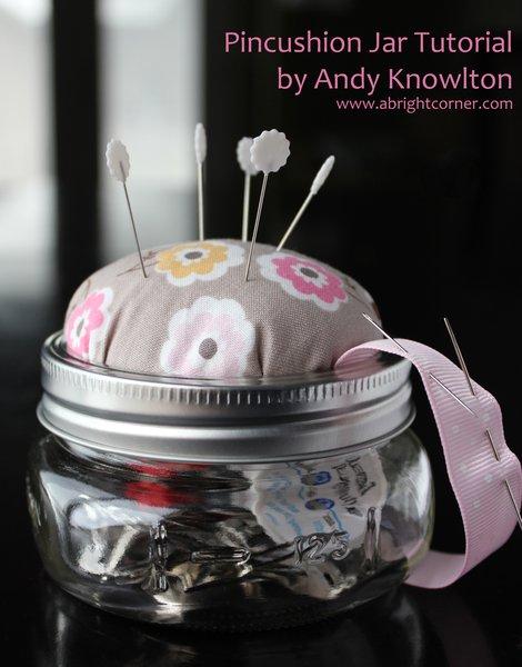 pincushion mason jar
