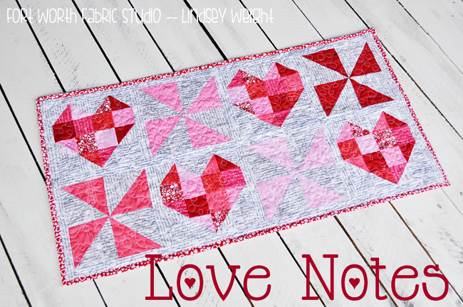 Love Notes Table Runner @ Fort Worth Fabric Studio