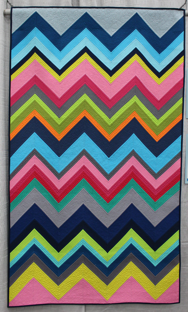 """Modern Chevron Remix"" by Cynthia Whitten"