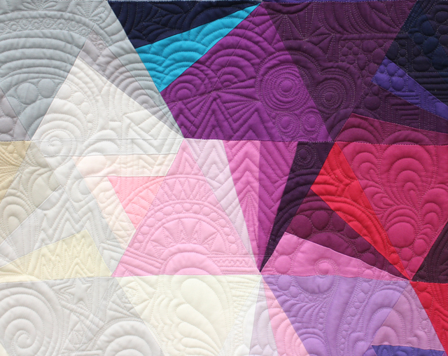 "Quilting detail of ""Tessellation 3"" by Nydia Kehnle"