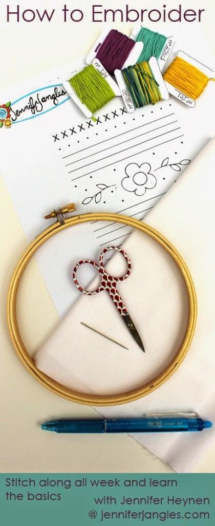 How to Embroider with Jennifer Heynen at JenniferJangles.com