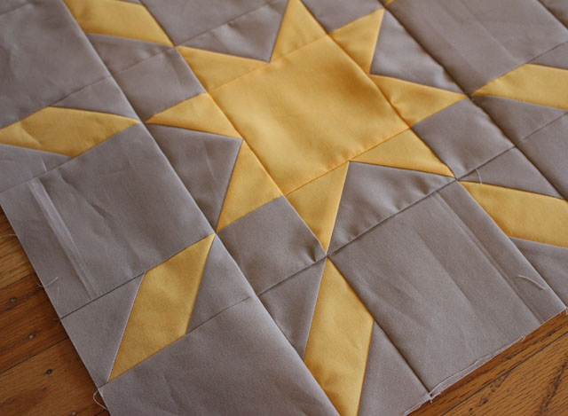 Star Crossed baby quilt by Julie Cefalu @ The Crafty Quilter