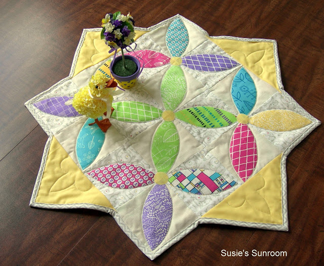 Susies Sunroom Spring Petals table topper