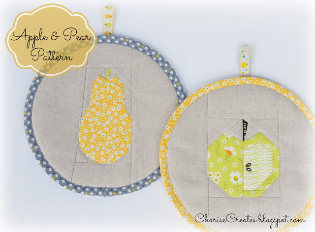 Apple & Pear Foundation Paper Piecing Pattern @ Charise Creates