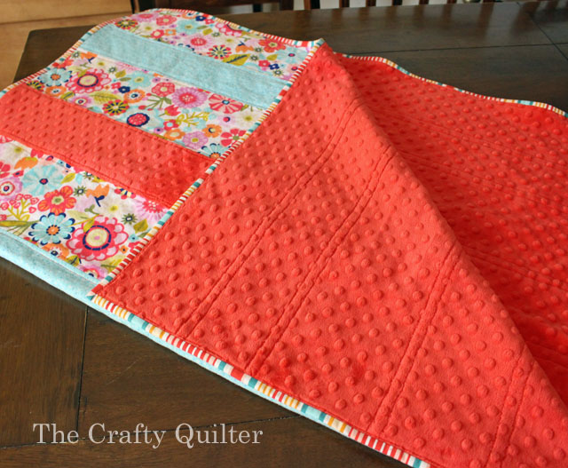 Soft & Striped Baby Quilt Tutorial @ The Crafty Quilter