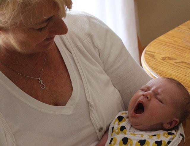 yawning for grandma