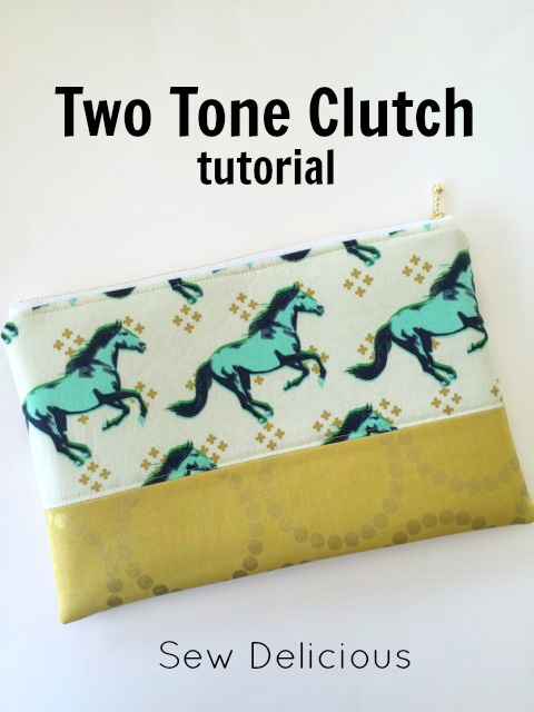 Two tone clutch tutorial @ Sew Delicious