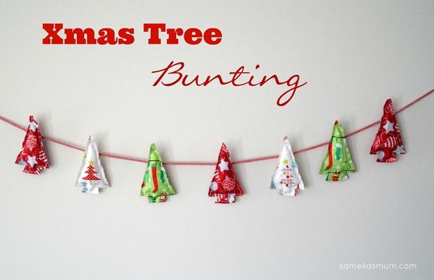 Xmas Tree Bunting @ Samelia's Mum