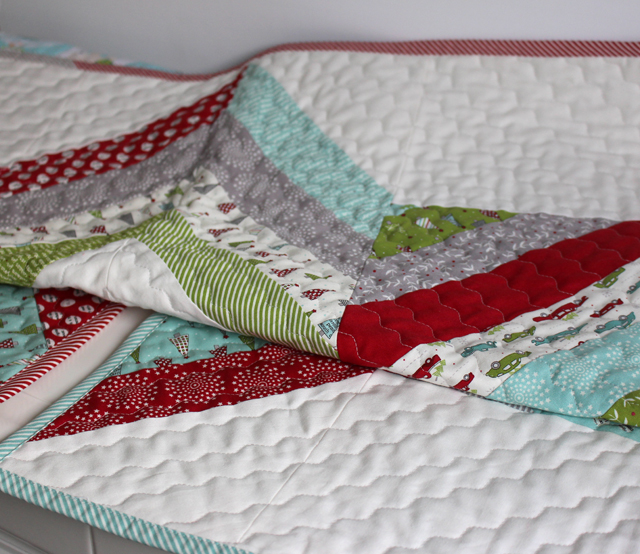 Joyful Jelly Roll Tree Skirt made by Julie Cefalu for Fat Quarter Shop