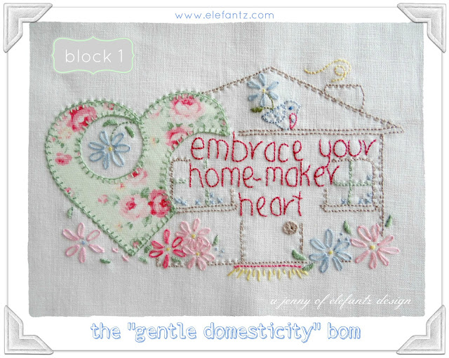 ELEFANTZ gentle domesticity BOM block 1 jan 2015