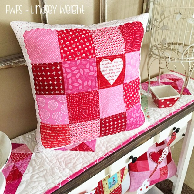 Valentine Pillow @ Fort Worth Fabric Studio