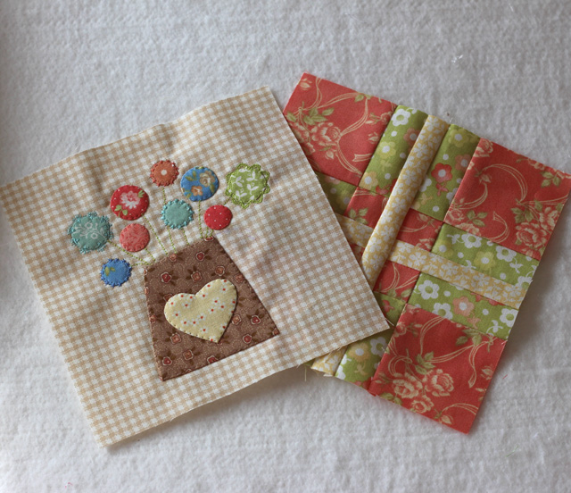 Splendid Sampler Block 4 and 5 by Julie Cefalu