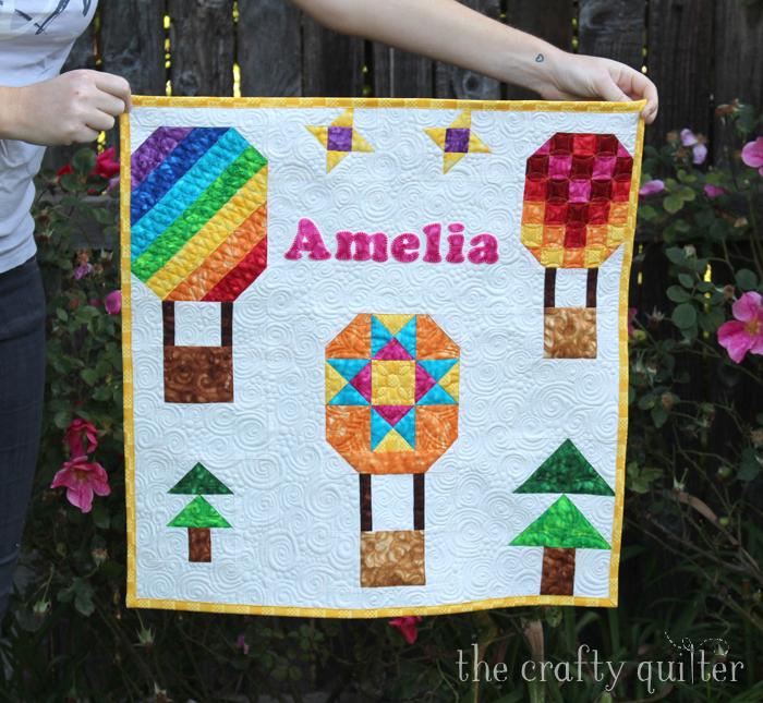 Hot Air Balloon Mini Quilt by Julie Cefalu