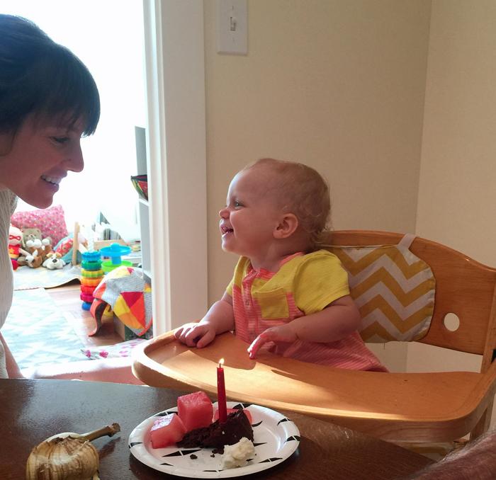 Kelly and Amelia celebrating their birthdays