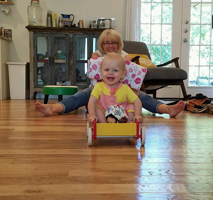 Amelia and Grandma having fun