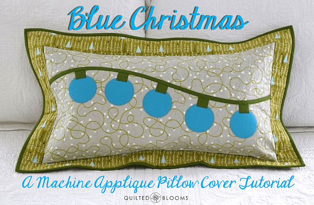 Blue Christmas pillow